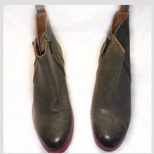 Lucky Brand leather upper ankle boots Sz 6
